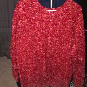 Sweaters - red oversized sweater